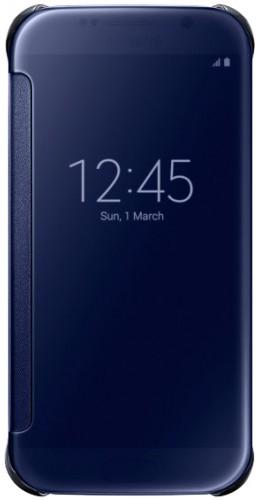 Coque Samsung Galaxy S7 edge - Clear View Cover bleu foncé