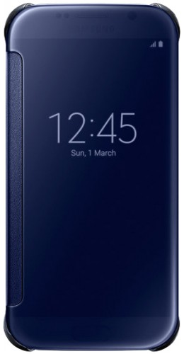 Coque Samsung Galaxy S5 - Clear View Cover bleu foncé