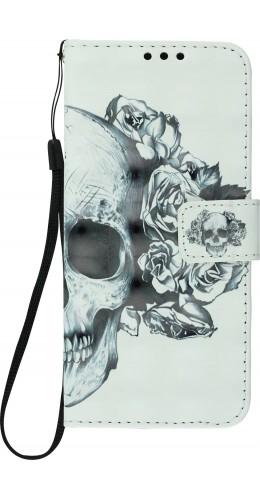 Fourre Samsung Galaxy S10+ - 3D Flip skull noir