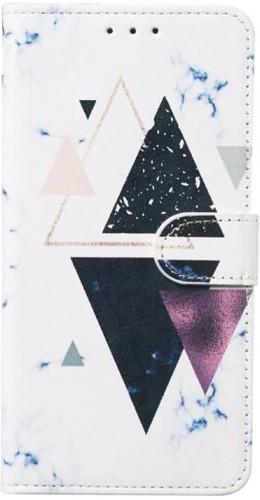 Fourre iPhone 7 / 8 / SE (2020) - Flip Abstract Art triangle noir