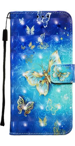 Fourre iPhone 11 Pro Max - Flip 3D papillons dorés