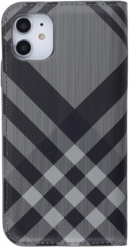 Fourre iPhone 12 mini - Flip Lines gris