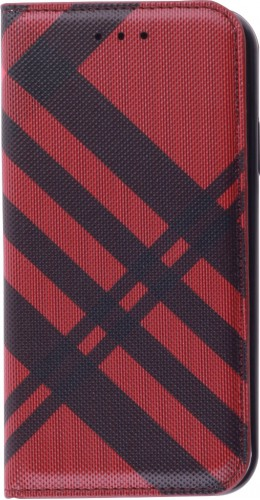 Fourre iPhone 12 / 12 Pro - Flip Lines rouge