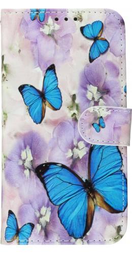 Fourre iPhone 11 - Flip butterfly Flower