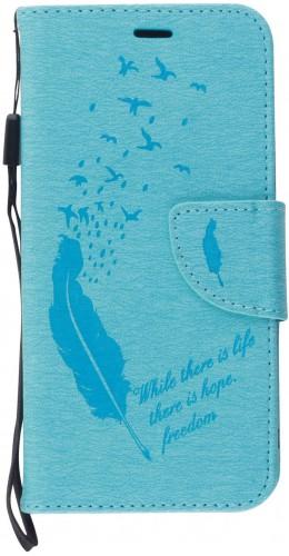 Fourre iPhone 11 - Flip plume freedom bleu clair