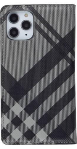 Fourre iPhone 11 Pro - Flip Lines gris