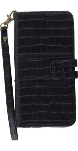 Fourre iPhone 11 Pro - Flip crocodile noir