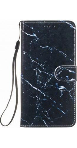 Fourre iPhone 11 - Flip Marble noir