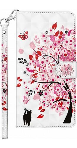 Fourre iPhone 7 / 8 / SE (2020) - 3D Flip arbre en fleur