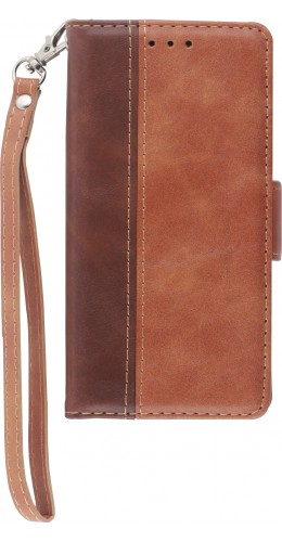 Fourre iPhone 12 mini - Wallet Duo  brun