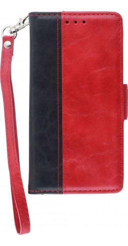Fourre iPhone 12 mini - Wallet Duo noir rouge
