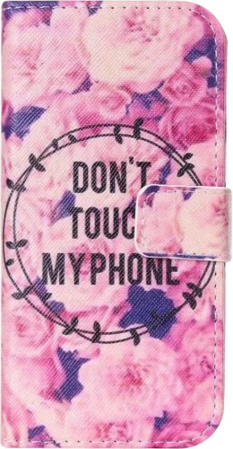 Fourre iPhone 5c - Flip Don't touch my phone flowers