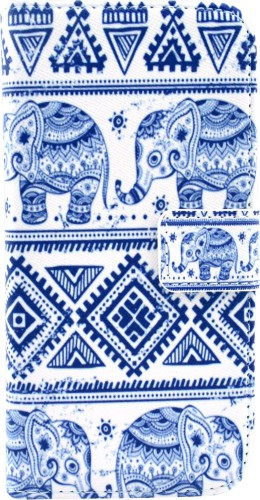 Fourre iPhone 6/6s - Flip Elephant Aztec
