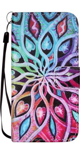 Fourre iPhone 7 Plus / 8 Plus - Flip Spirale multicolore