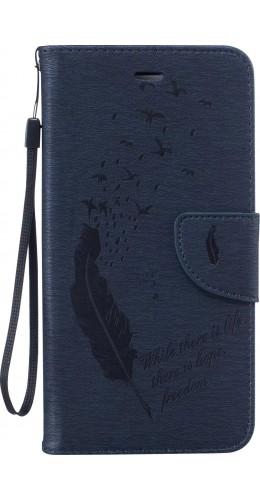 Fourre iPhone 6/6s - Flip plume freedom bleu foncé