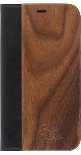 Fourre iPhone XR - Flip Eleven Wood Walnut