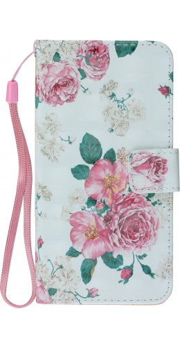 Fourre iPhone X / Xs - Flip 3D Flowers Vintage rose