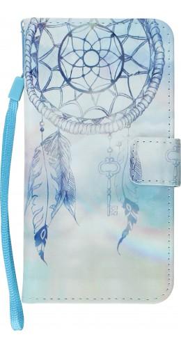 Fourre iPhone X / Xs - Flip 3D dreamcatcher bleu clair