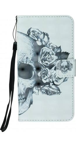 Fourre iPhone Xr - Flip 3D skull noir