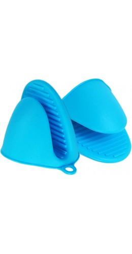 Gants en silicone resistant à la chaleur bleu