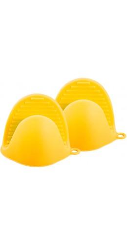 Gants en silicone resistant à la chaleur jaune