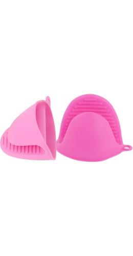 Gants en silicone resistant à la chaleur rose