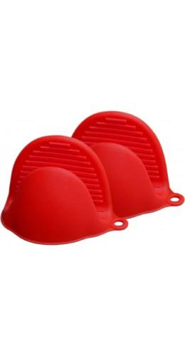 Gants en silicone resistant à la chaleur rouge