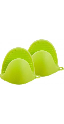 Gants en silicone resistant à la chaleur vert
