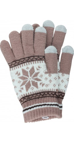 Gants tactiles Snow beige