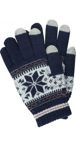Gants tactiles Snow bleu foncé