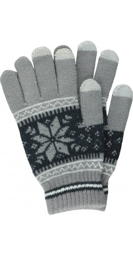 Gants tactiles Snow gris