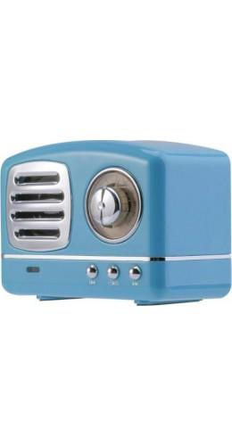 Haut-parleur Vintage sans fil Bluetooth Retro 60s Look Radio/AUX/SD - Bleu