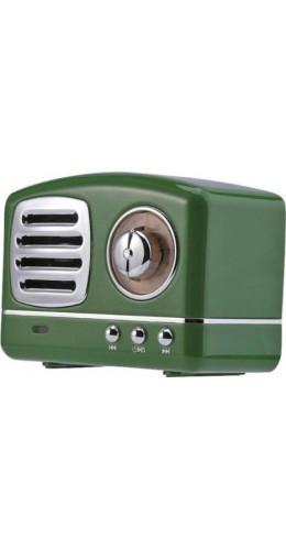 Haut-parleur Vintage sans fil Bluetooth Retro 60s Look Radio/AUX/SD - Vert