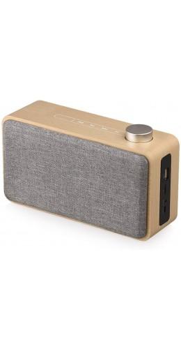 Haut-parleur Bluetooth élégant - Design en bois et meilleur plaisir musical BT/AUX/SD