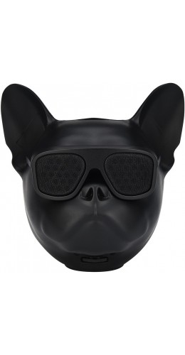 Haut-parleur Bluetooth tête Bulldog noir