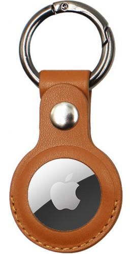 Porte-clés AirTag - Cuir brun