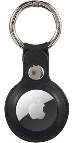 Porte-clés AirTag - Cuir noir