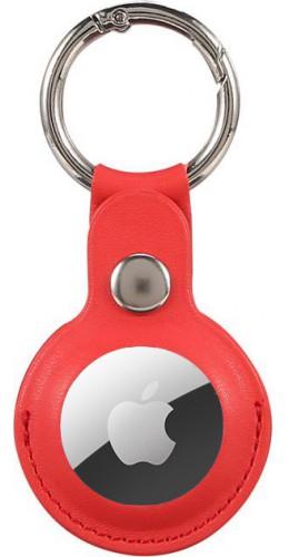 Porte-clés AirTag - Cuir rouge