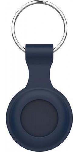 Porte-clés AirTag - Silicone bleu foncé