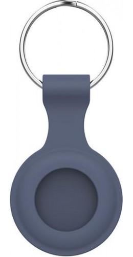Porte-clés AirTag - Silicone bleu gris