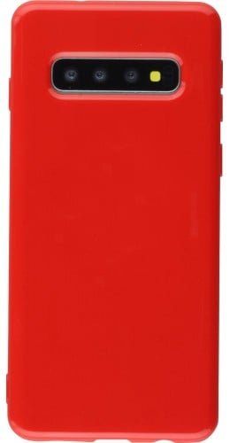 Housse Samsung Galaxy S10+ - Gel rouge
