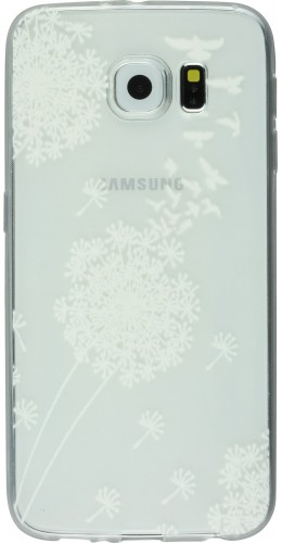 Housse Samsung Galaxy S8+ - Flower Transparent Blanc