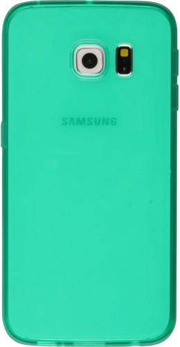 Housse Samsung Galaxy S6 - Gel transparent vert menthe
