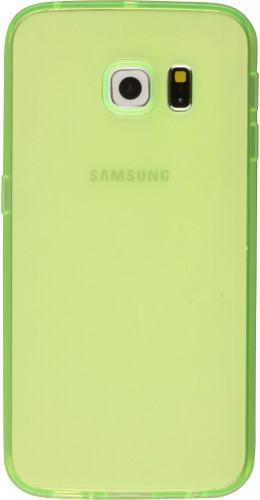 Housse Samsung Galaxy S6 edge - Gel transparent vert