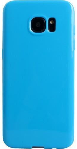 Housse Samsung Galaxy S6 edge - Gel bleu