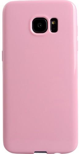 Housse Samsung Galaxy S6 edge - Gel rose clair
