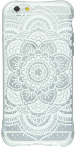 Housse iPhone 6 Plus / 6s Plus - Clear Dots Henna White Flower transparent