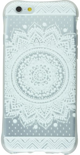 Housse Samsung Galaxy S6 edge - Clear Dots Henna White oriental transparent