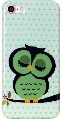 Housse Samsung Galaxy S6 edge - Hiboux vert