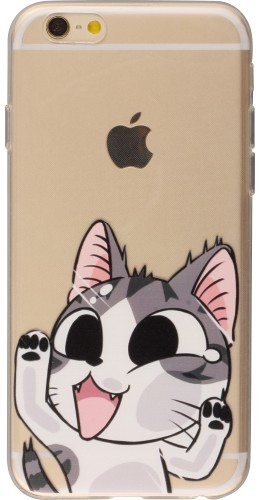 Housse iPhone 6/6s - Funnyclear Cat